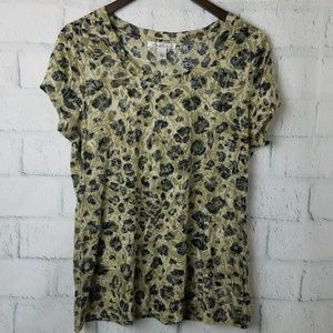 Kenneth Cole | Animal Print Burnout Tee